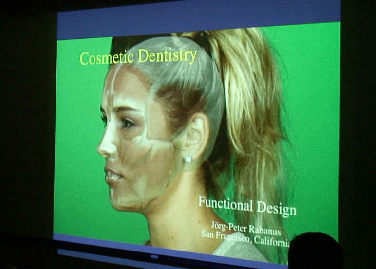Cosmetic dentist Dr. Peter Rabanus talking about smile dynamics.